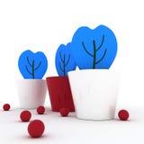 在罐的蓝色花 免版税库存照片