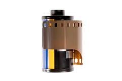 在罐的35mm胶片 库存照片