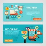 在网上买和交付概念 库存图片
