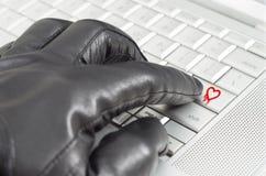 在网上利用heartbleed臭虫概念 库存图片