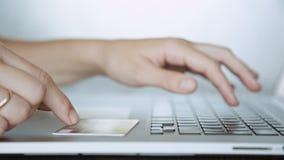 在网上支付与信用卡,购物 影视素材