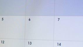 在网上日历,假日计划者应用程序,时间管理的人键入的假期 股票录像