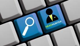 在网上猎头者 免版税图库摄影