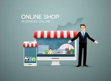 在网上网上商店事务 免版税库存图片