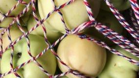 在网兜的成熟苹果 健康概念的食物 股票录像