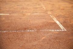 在网球场的线 库存图片