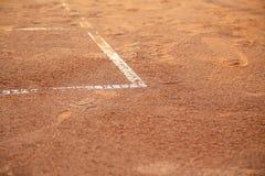 在网球场的线 免版税库存照片