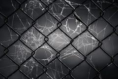 在网的老金属格栅 图库摄影