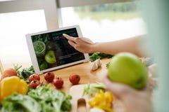 在网站上的食谱 免版税库存图片