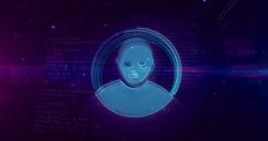 在网际空间的保密性 向量例证