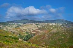 在罗卡角的小山,极值点欧洲,辛特拉,葡萄牙 库存图片