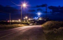 在罗卡角的灯塔在日落的葡萄牙 免版税图库摄影