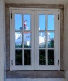 在罗卡角,葡萄牙,大陆多数西部海角的灯塔  库存图片