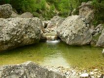 在罗多彼州山的看法,保加利亚 免版税库存照片