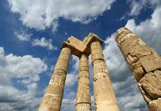 在罗得岛上城的阿波罗寺庙  免版税库存照片