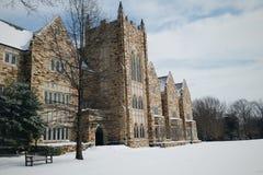 在罗得岛学院的冬天 库存照片