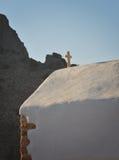 在罗得岛海岛上的教会 库存照片