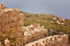 在罗得岛的Ruines 免版税库存照片