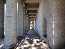 在罗得岛纪念品,开普敦,南非的专栏 免版税库存图片
