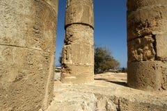 在罗得岛,希腊上城的阿波罗寺庙  免版税库存图片