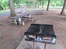 """在罗斯福公园烤野餐区在爱迪生, NJ,美国 Ð """" 免版税库存照片"""