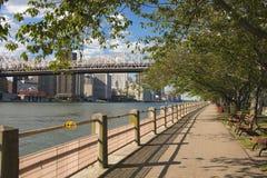 在罗斯福岛纽约的走道 免版税库存照片
