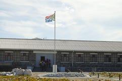 在罗本岛-开普敦-南非的最大安全监狱 免版税库存照片