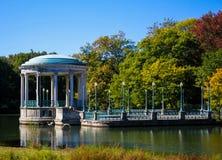 在罗杰威廉斯公园,上帝, RI的眺望台 免版税库存照片