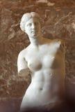 在罗浮宫的米罗的维纳斯 图库摄影