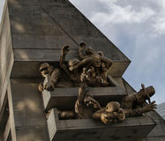 在罗渣士中心体育场,多伦多的观众雕塑 免版税图库摄影