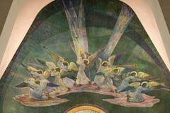 在罗瓦涅米教会的天使 库存图片