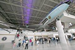 在罗纳德・里根总统图书馆和博物馆的空军一号亭子里面, Simi谷,加州 库存图片