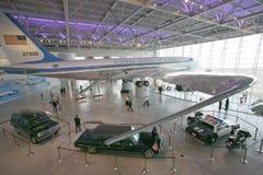 在罗纳德・里根总统图书馆和博物馆的空军一号亭子里面, Simi谷,加州 库存照片
