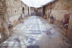 在罗马别墅的马赛克在西西里岛 库存图片