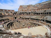 在罗马大剧场里面在罗马 库存图片