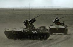 在罗马尼亚军事多角形的MLI 84 Jder战斗的机器 库存图片