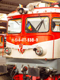 在罗马尼亚制造的机车 库存图片