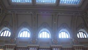 在罗马尼亚的国家银行的内部建筑学 影视素材