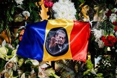 在罗马尼亚的Mihai国王死亡memoriam  免版税库存照片