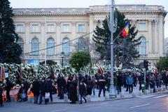在罗马尼亚的Mihai国王死亡memoriam  图库摄影
