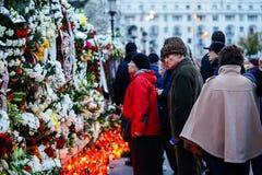在罗马尼亚的Mihai国王死亡memoriam  免版税库存图片