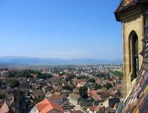 在罗马尼亚锡比乌之上 库存图片