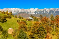 在罗马尼亚villlage的乡下风景 免版税库存照片