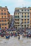 在罗马意大利的历史中心 condotti?? 库存照片