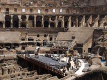 在罗马斗兽场的指挥台 库存照片
