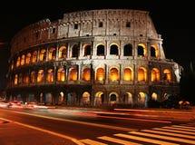 在罗马斗兽场的时间间隔照片 库存照片