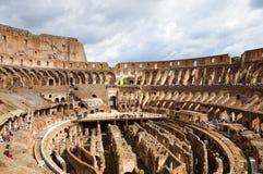 在罗马斗兽场里面,罗马,意大利 免版税库存照片