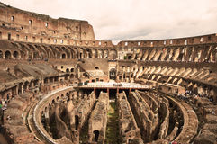 在罗马斗兽场里面,罗马,意大利 免版税库存图片