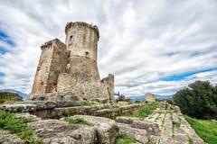 在罗马时期的Elea Velia,是优秀大学毕业生格雷西亚一个古城 免版税库存照片