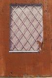 在罗马的墙壁上的假窗口海报街道画 免版税库存图片